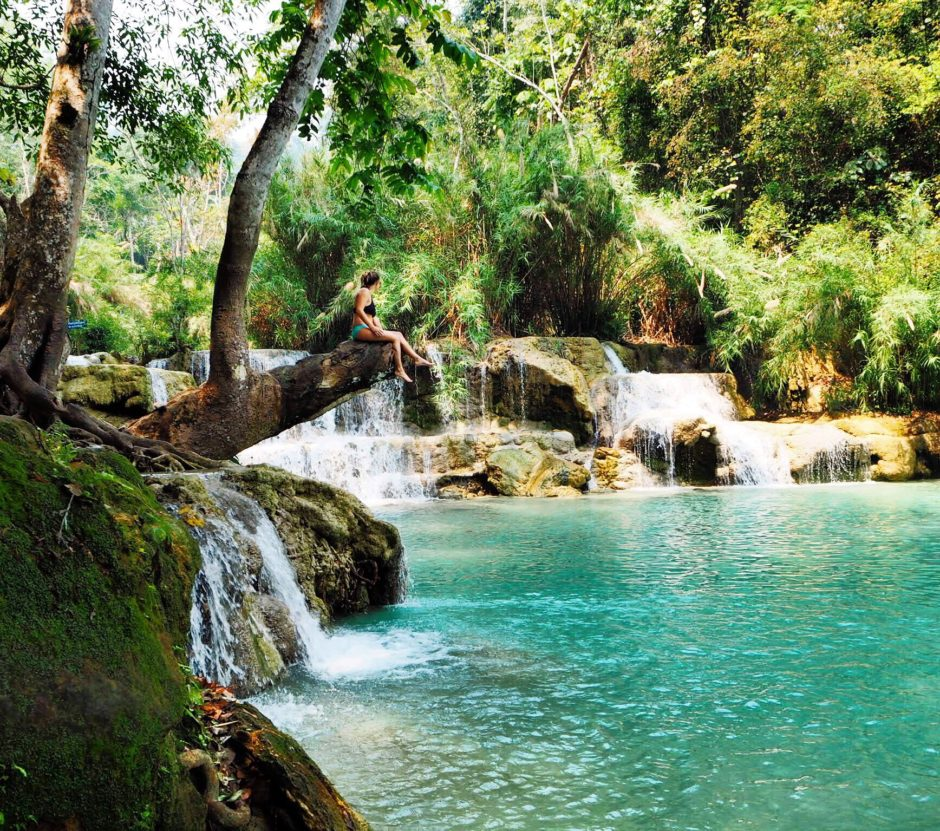 Beautiful Places Names World: Beautiful Places In The World: Kuang Si Falls