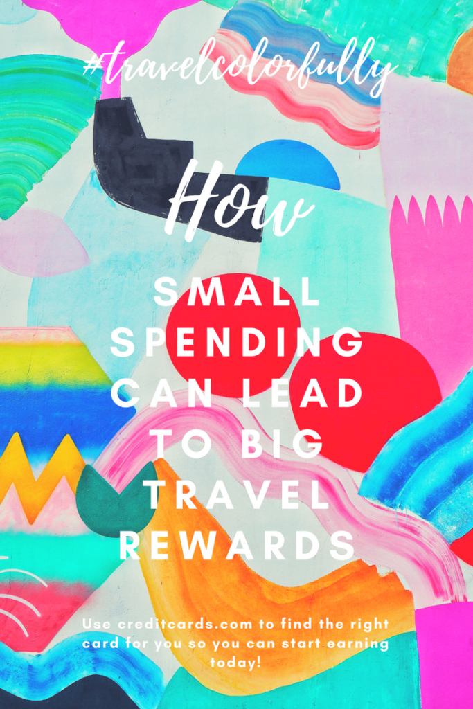 How small spending can lead to big travel rewards with @CreditCards.com #CreditCardWin #sponsored